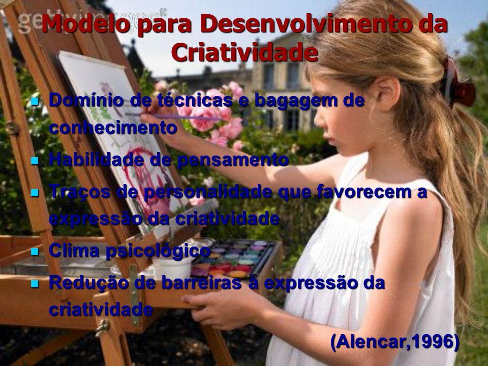 Modelo para Desenvolvimento da Criatividade