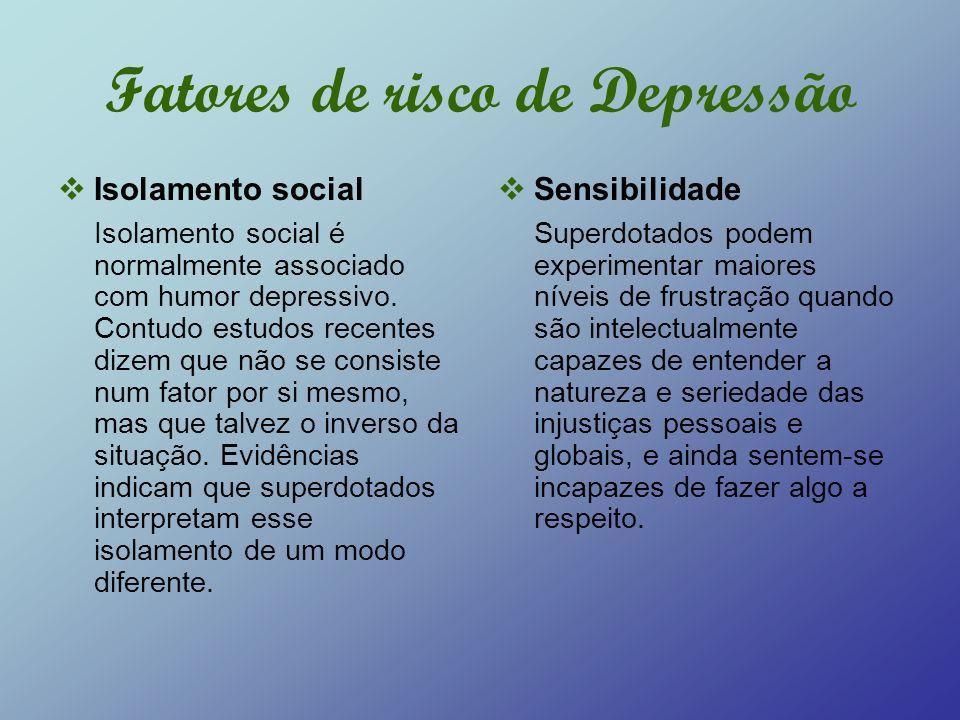 Fatores de risco de Depressão