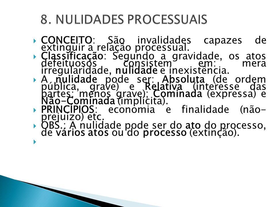 8. NULIDADES PROCESSUAIS