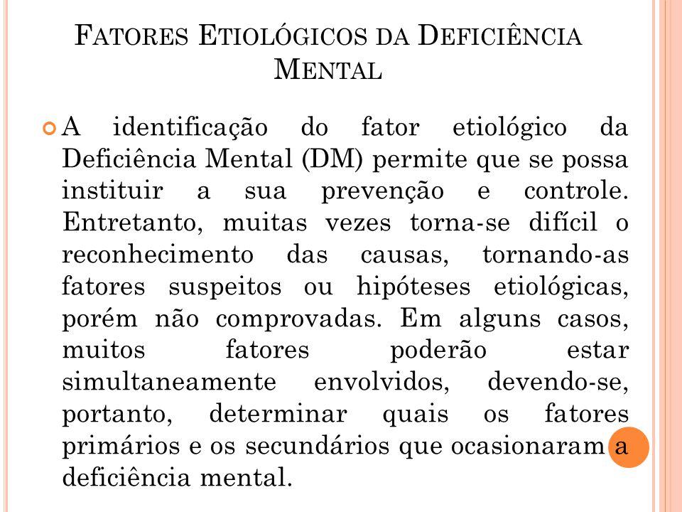 Fatores Etiológicos da Deficiência Mental