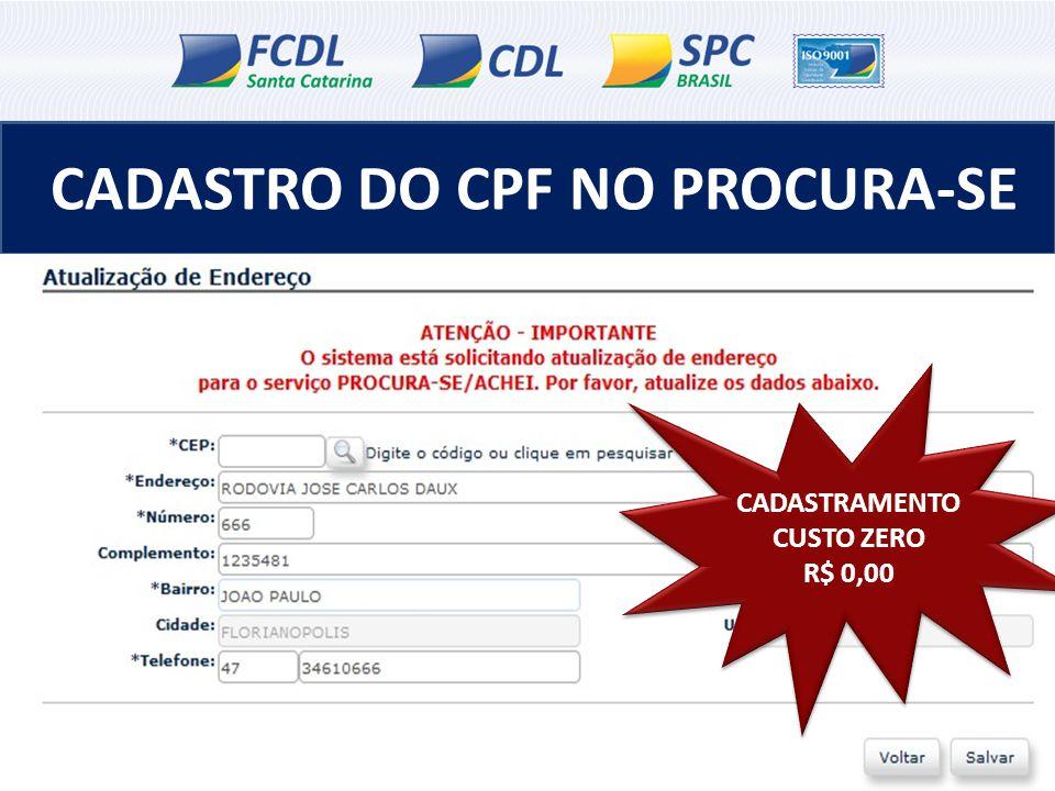 CADASTRO DO CPF NO PROCURA-SE