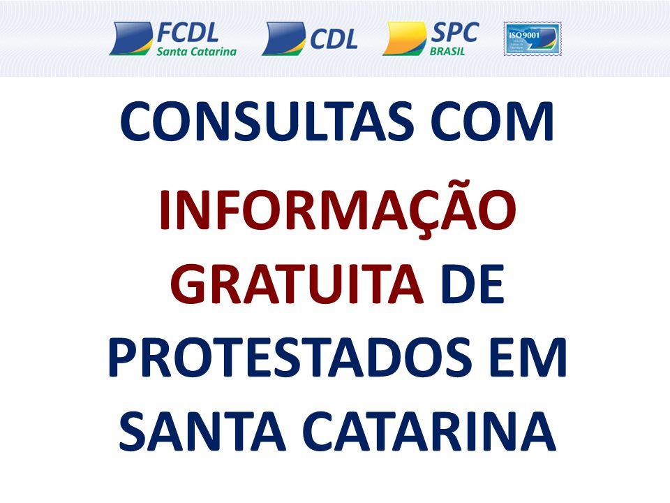 INFORMAÇÃO GRATUITA DE PROTESTADOS EM SANTA CATARINA