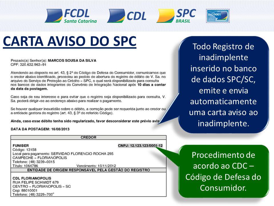 Procedimento de acordo ao CDC – Código de Defesa do Consumidor.