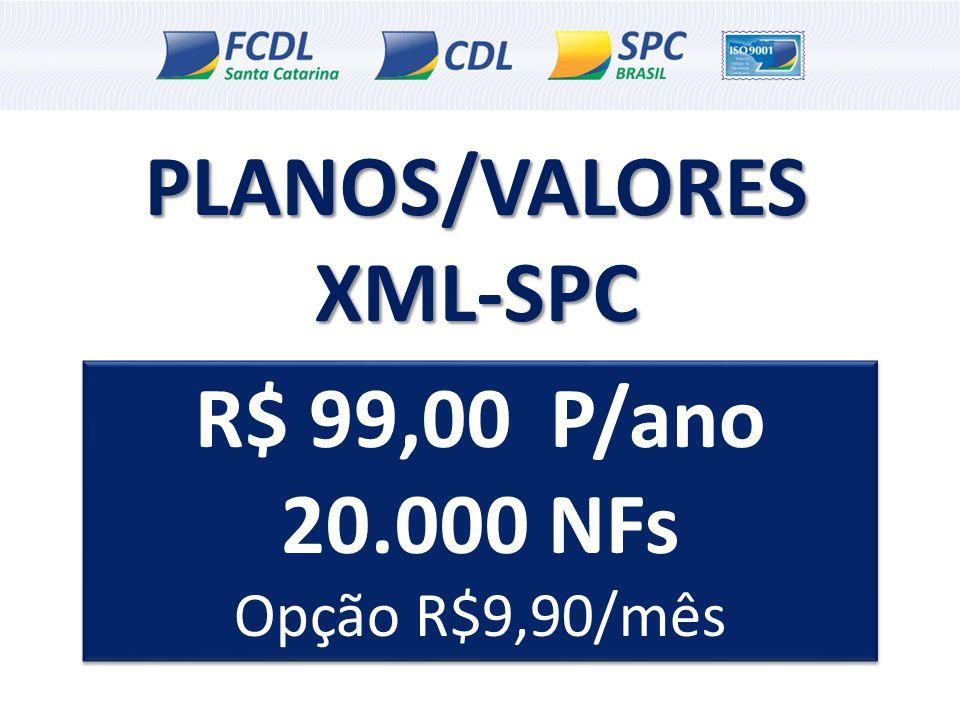 PLANOS/VALORES XML-SPC