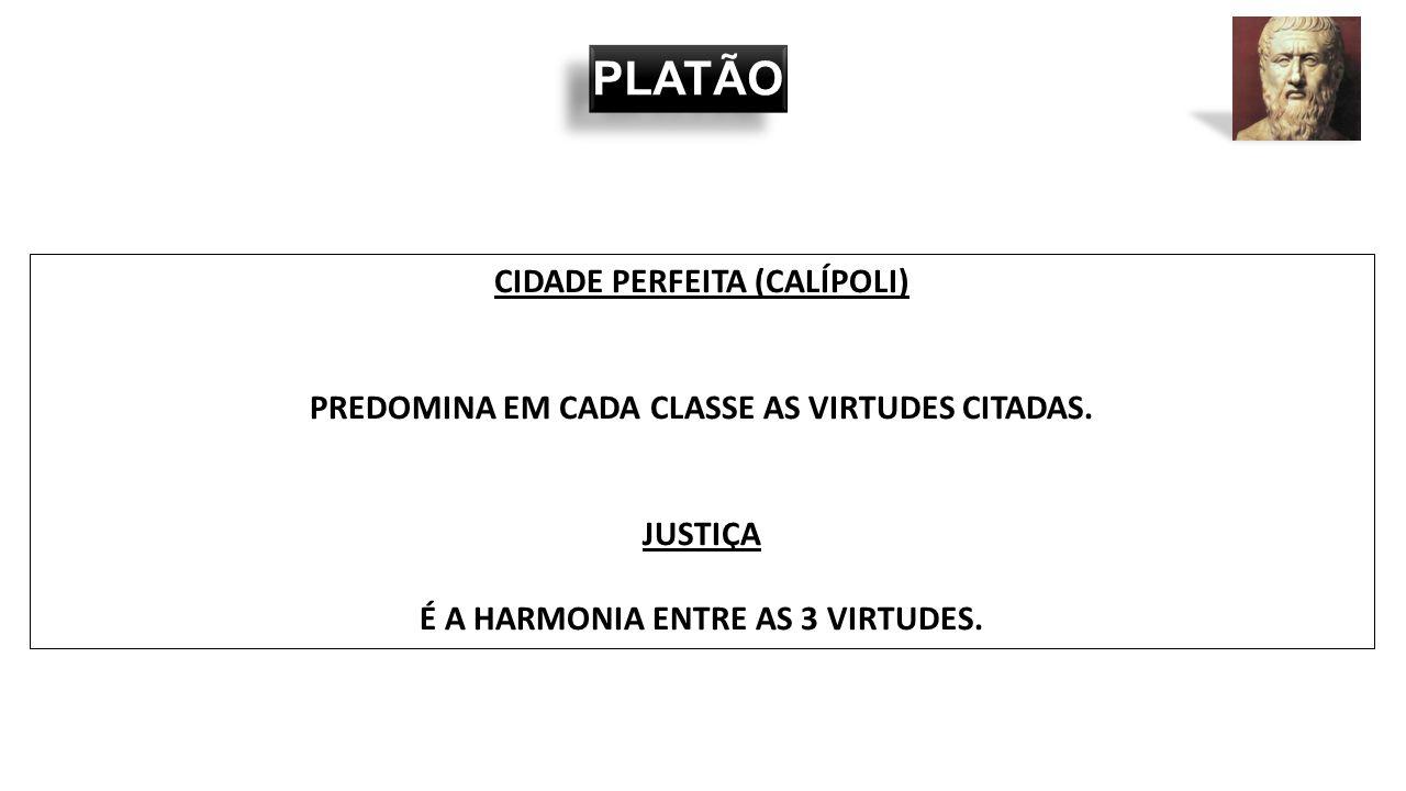 PLATÃO CIDADE PERFEITA (CALÍPOLI)