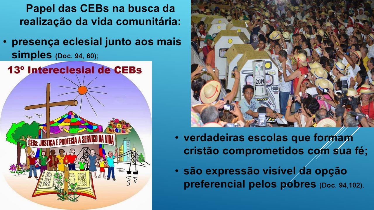 Papel das CEBs na busca da realização da vida comunitária: