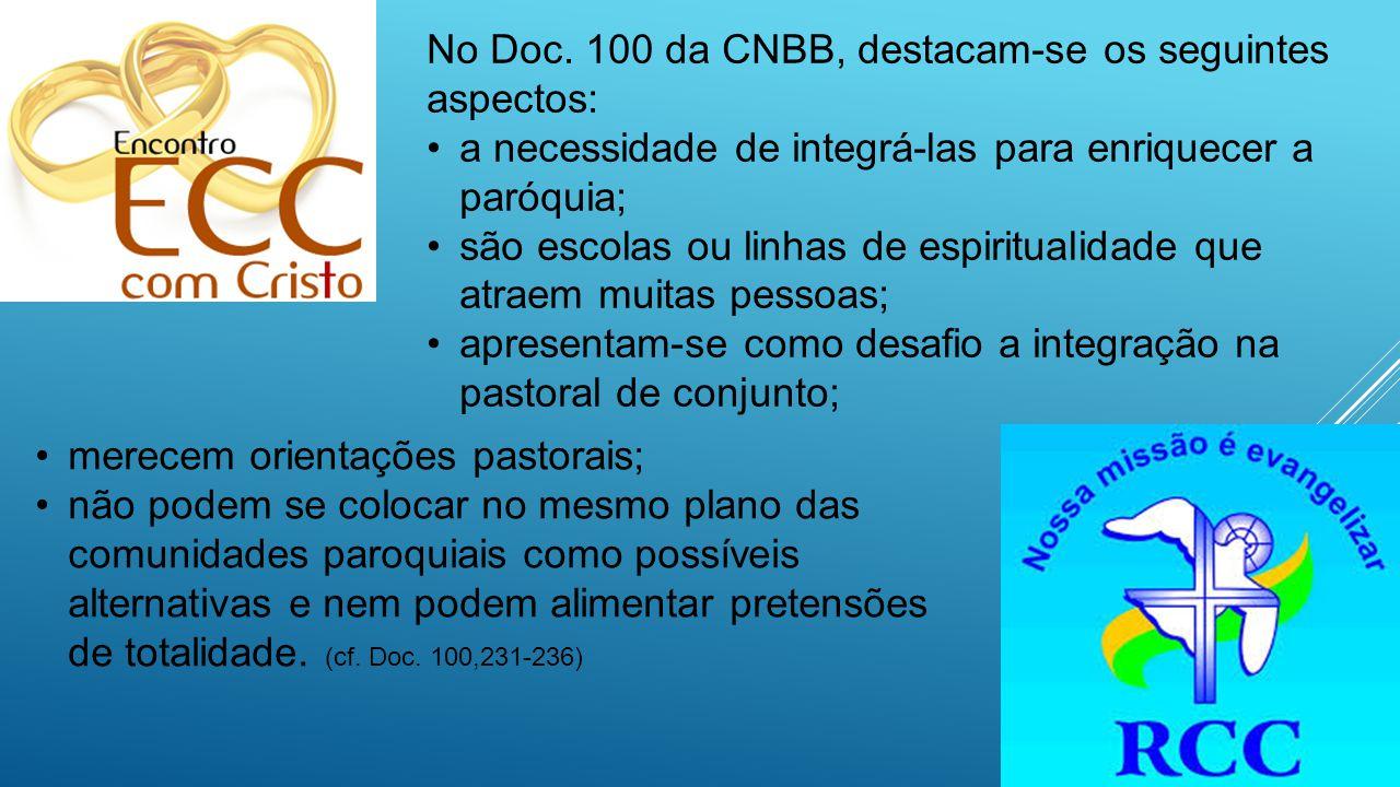 No Doc. 100 da CNBB, destacam-se os seguintes aspectos: