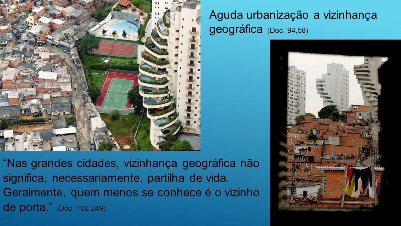 Aguda urbanização a vizinhança geográfica (Doc. 94,58)