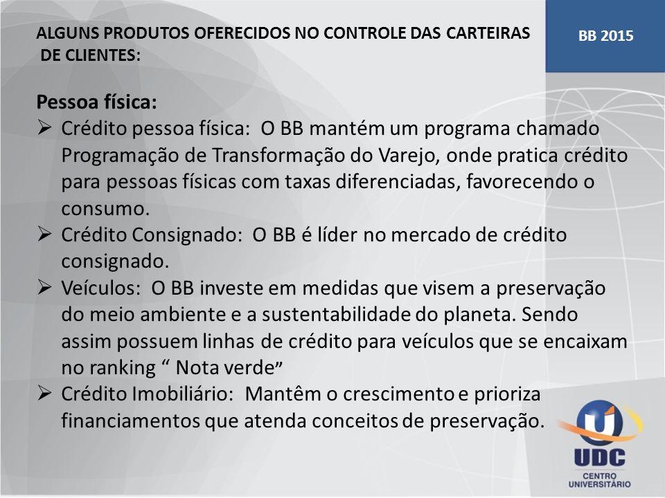 Crédito Consignado: O BB é líder no mercado de crédito consignado.