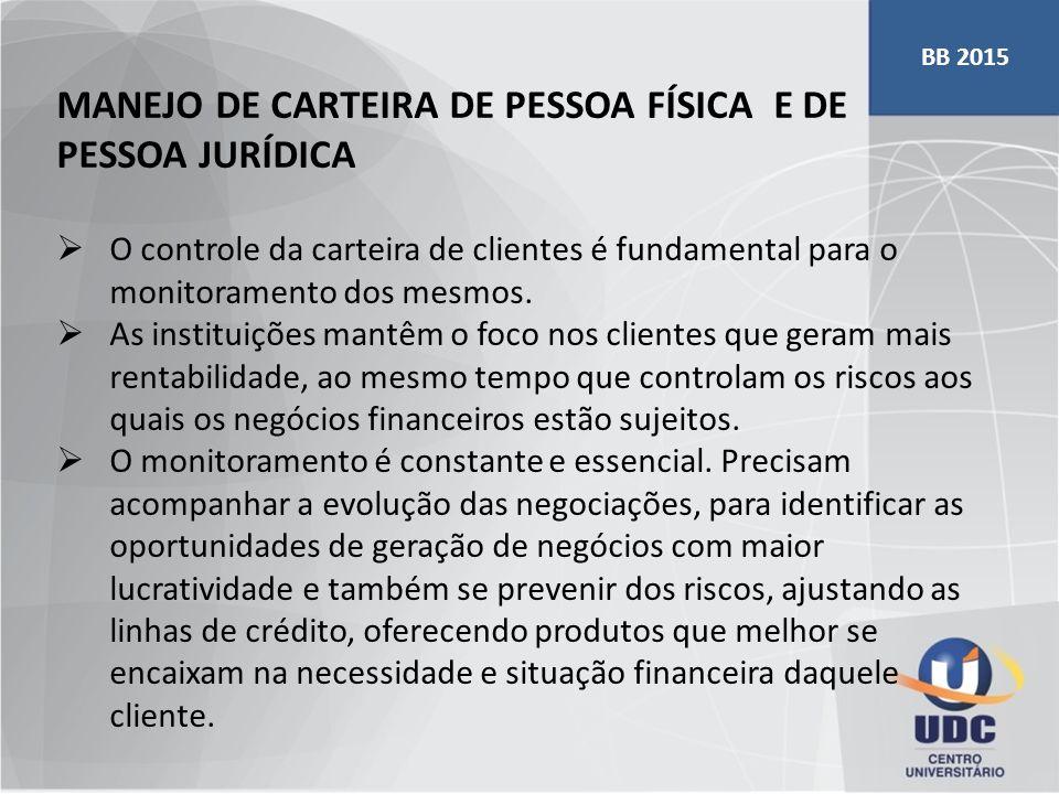 MANEJO DE CARTEIRA DE PESSOA FÍSICA E DE PESSOA JURÍDICA