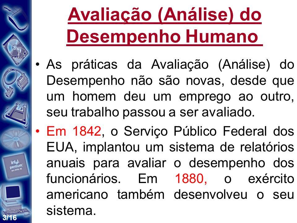 Avaliação (Análise) do Desempenho Humano