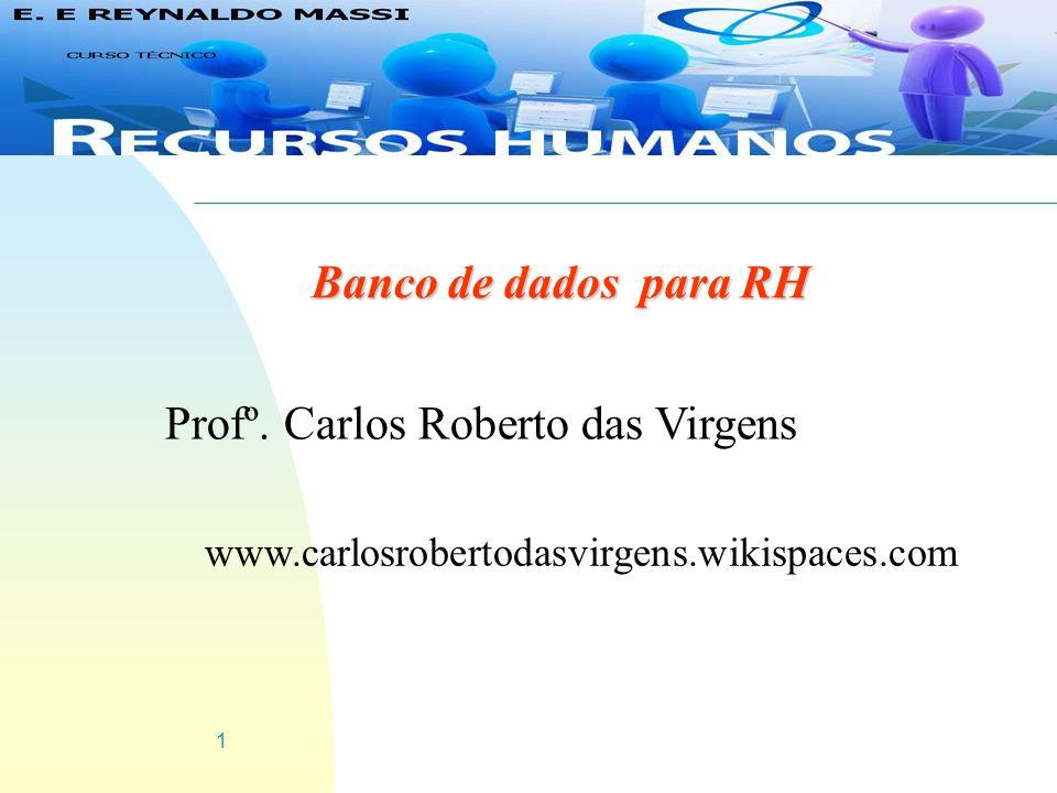 Profº. Carlos Roberto das Virgens