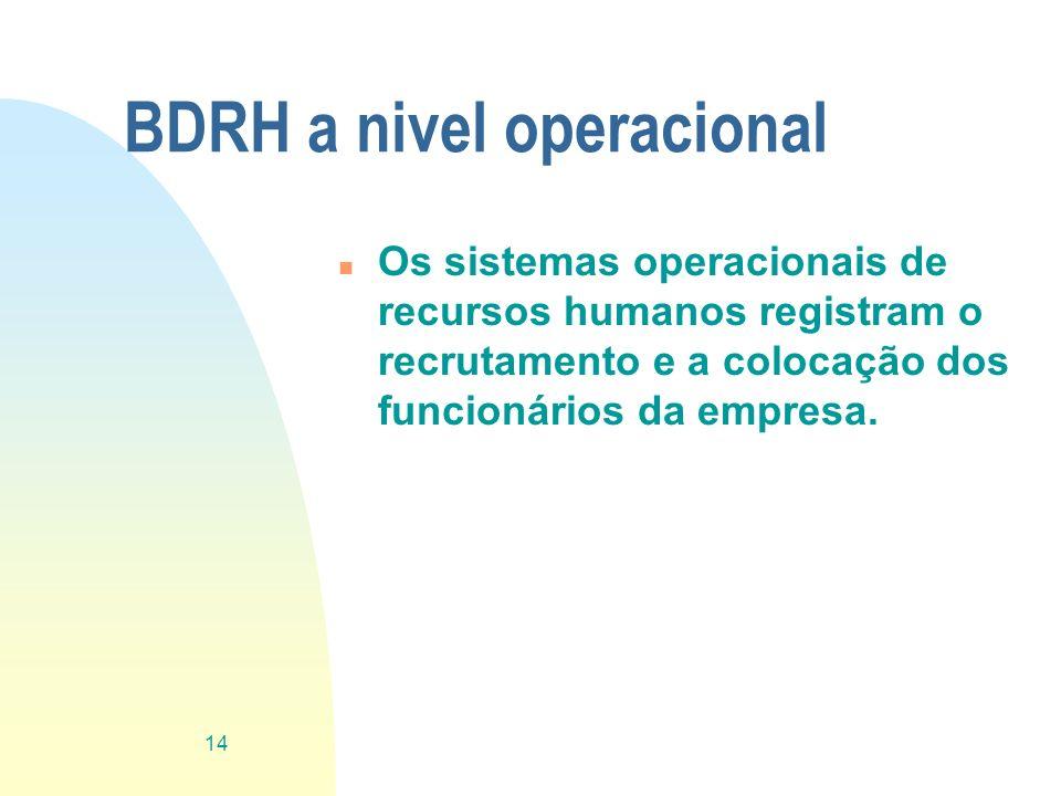 BDRH a nivel operacional