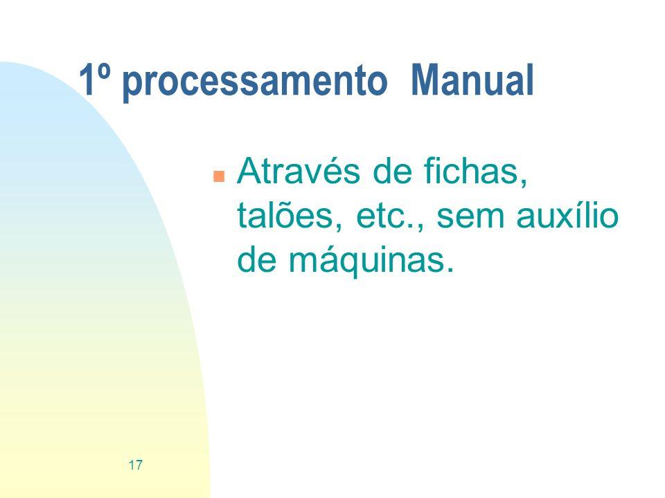 1º processamento Manual
