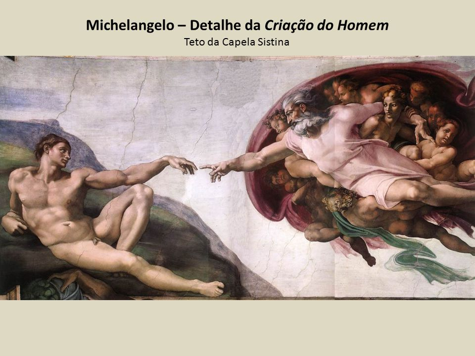 Michelangelo – Detalhe da Criação do Homem