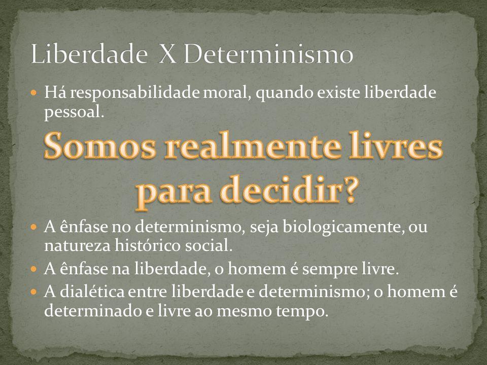 Liberdade X Determinismo