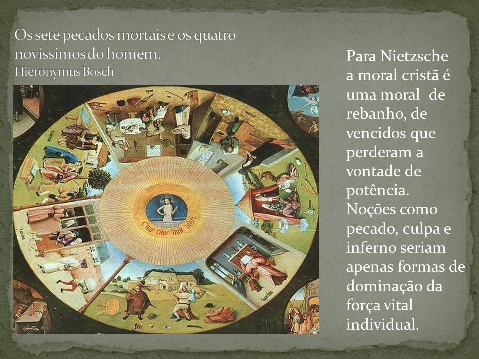 Os sete pecados mortais e os quatro novíssimos do homem