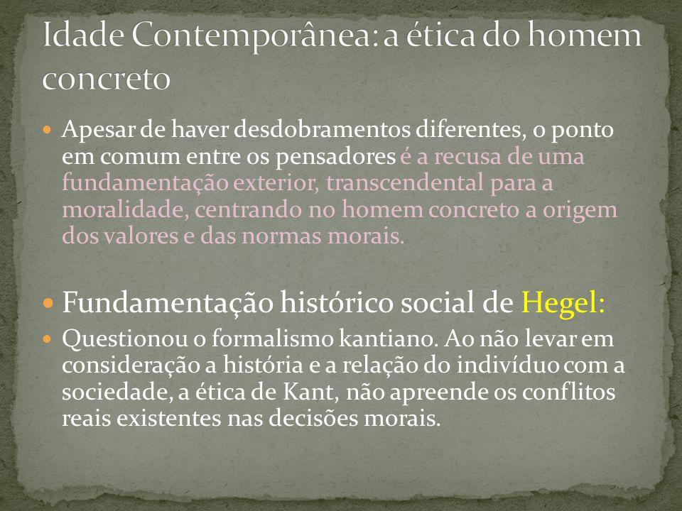 Idade Contemporânea: a ética do homem concreto