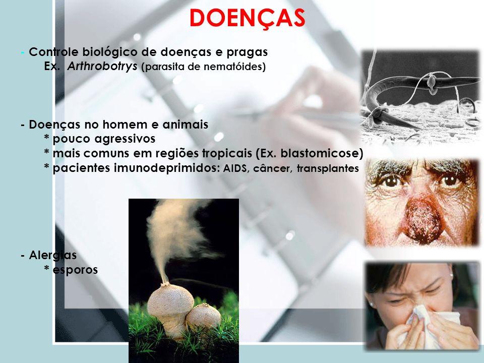 DOENÇAS - Controle biológico de doenças e pragas