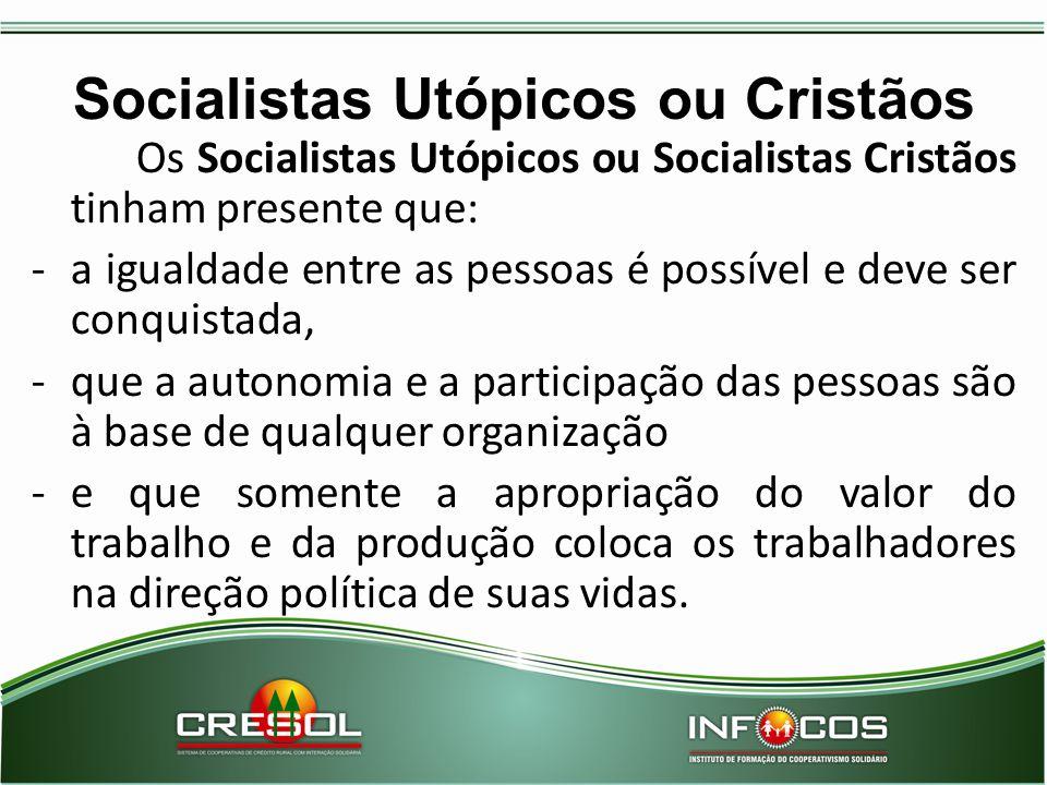 Socialistas Utópicos ou Cristãos