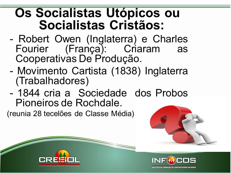 Os Socialistas Utópicos ou Socialistas Cristãos: