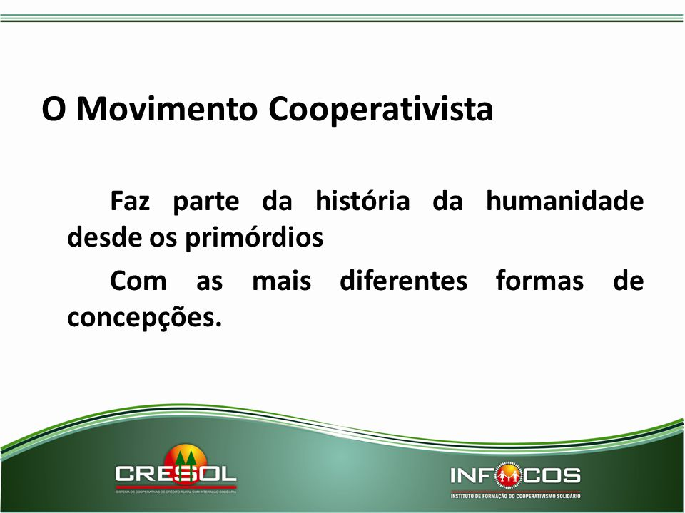 O Movimento Cooperativista