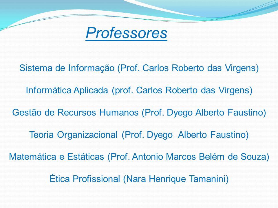 Professores Sistema de Informação (Prof. Carlos Roberto das Virgens)