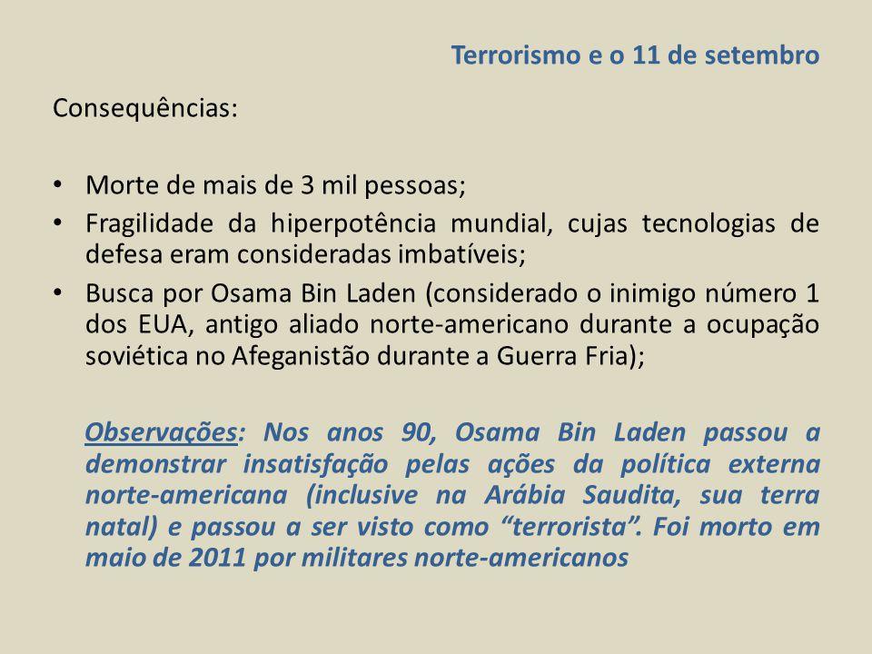 Terrorismo e o 11 de setembro