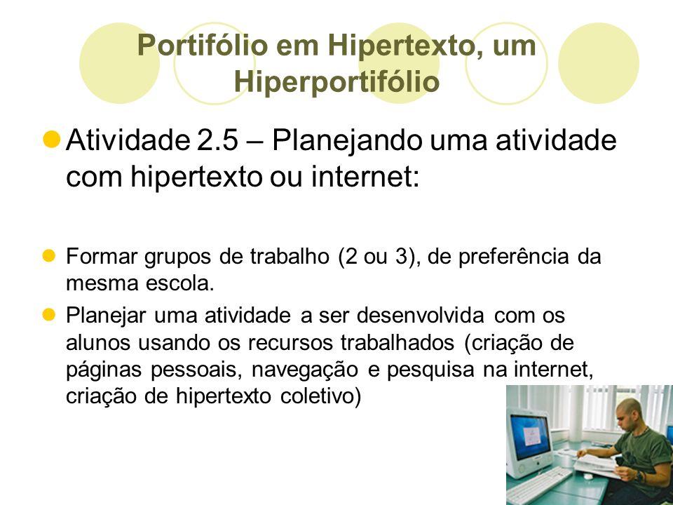 Portifólio em Hipertexto, um Hiperportifólio
