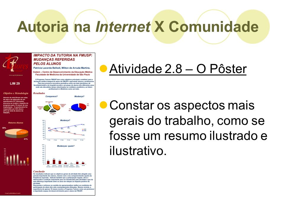 Autoria na Internet X Comunidade