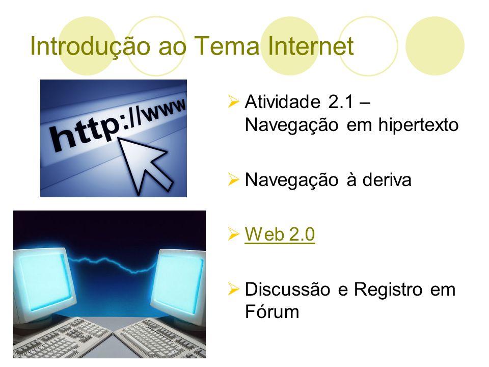 Introdução ao Tema Internet