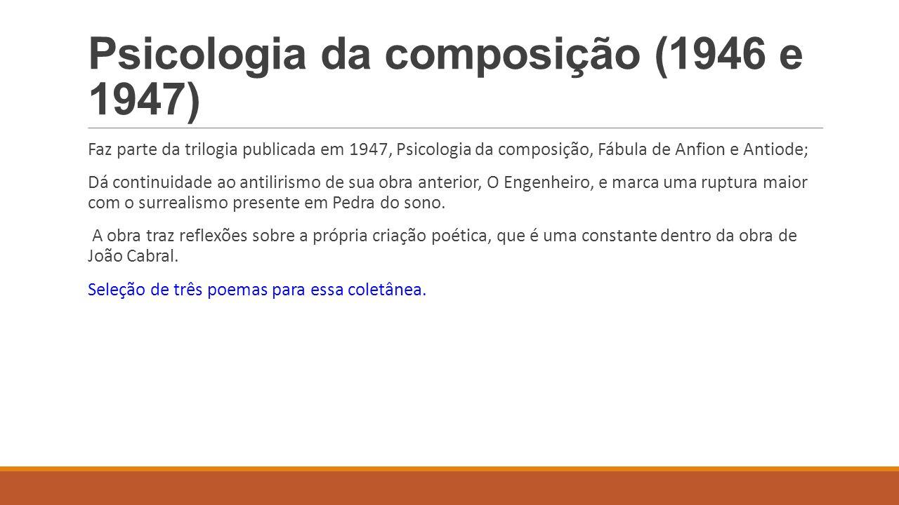 Psicologia da composição (1946 e 1947)