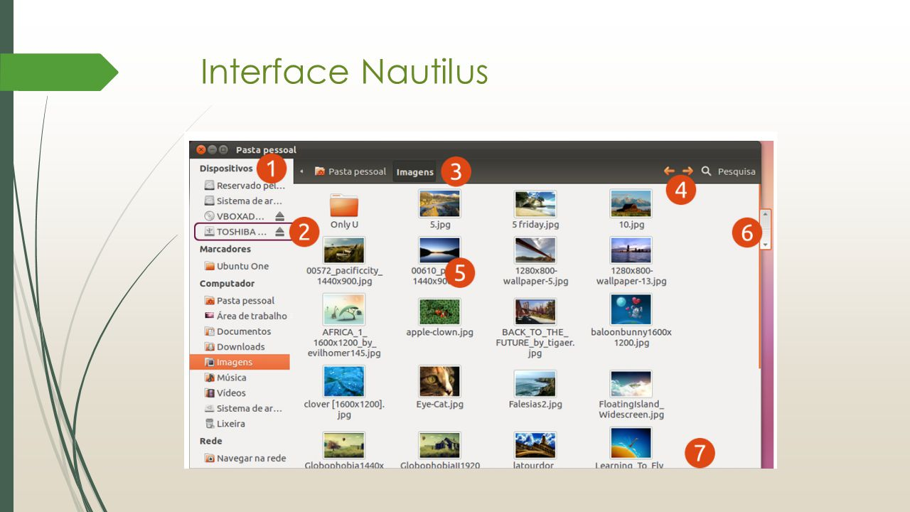 Interface Nautilus