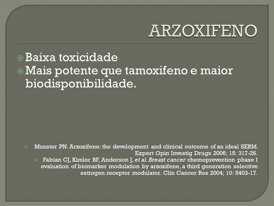 ARZOXIFENO Baixa toxicidade