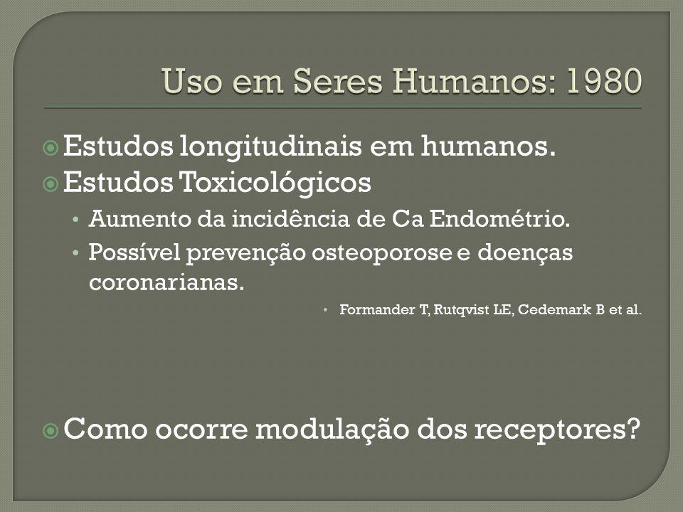 Uso em Seres Humanos: 1980 Estudos longitudinais em humanos.
