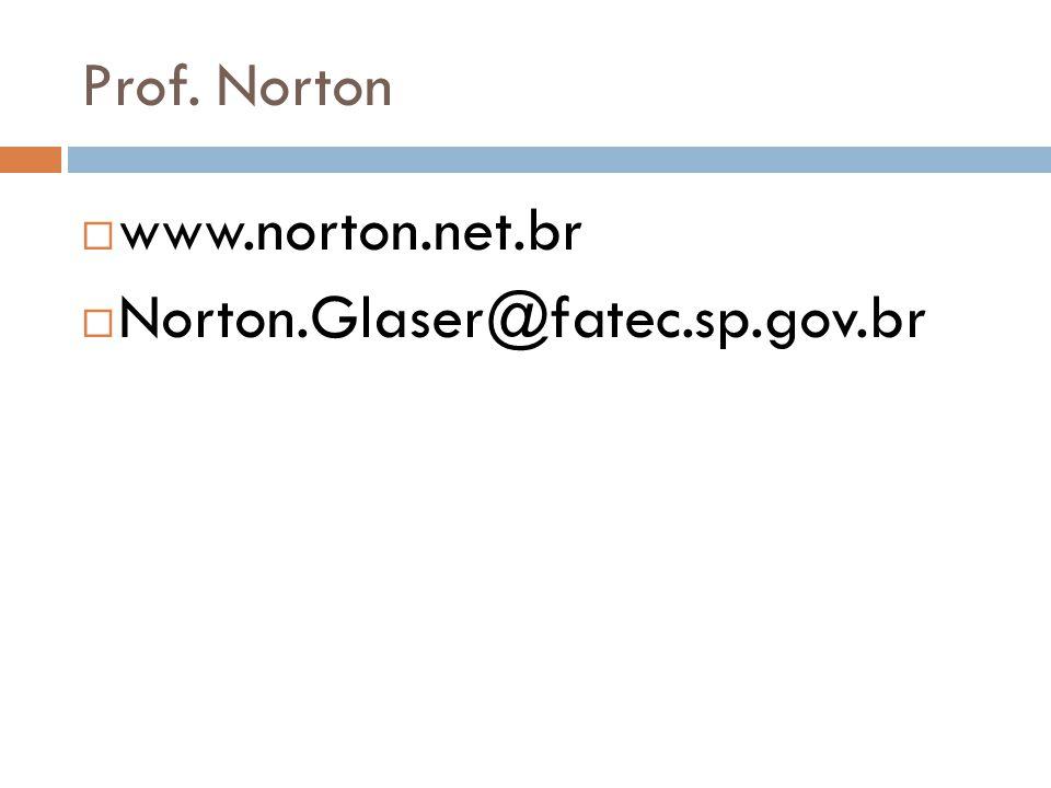 Prof. Norton www.norton.net.br Norton.Glaser@fatec.sp.gov.br