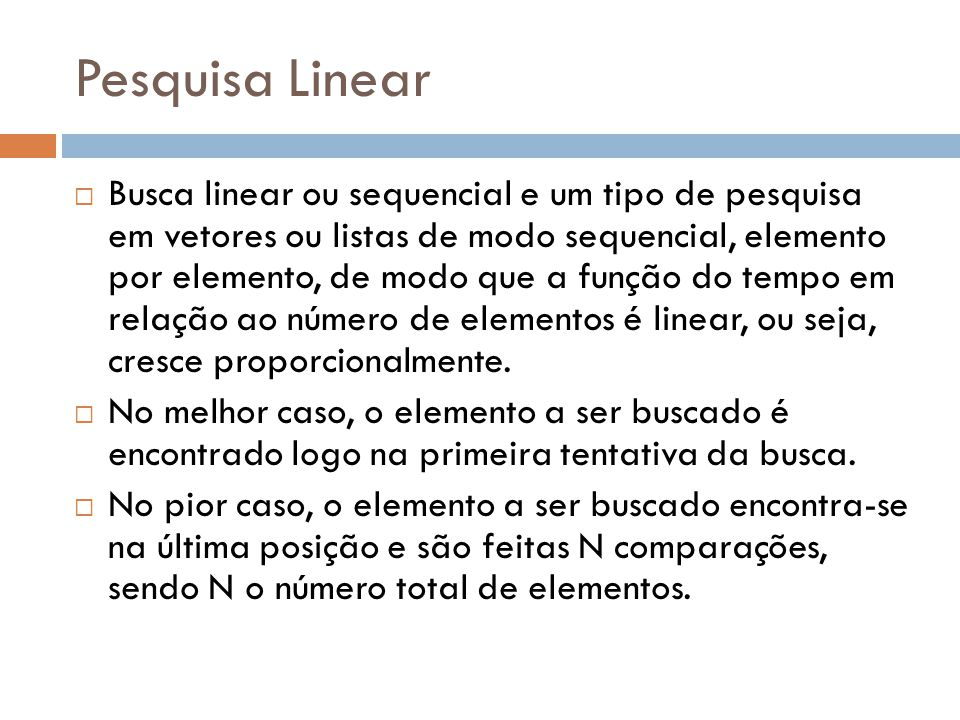 Pesquisa Linear