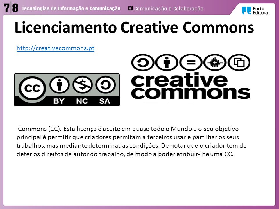 Licenciamento Creative Commons