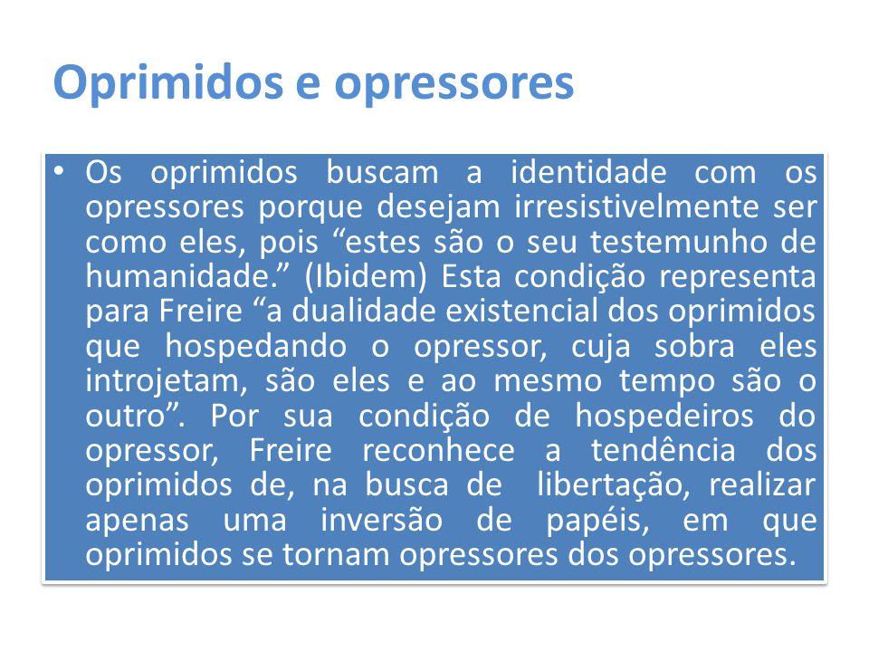 Oprimidos e opressores