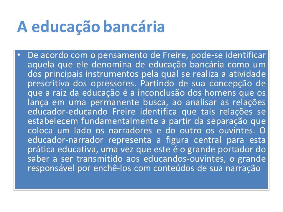 A educação bancária