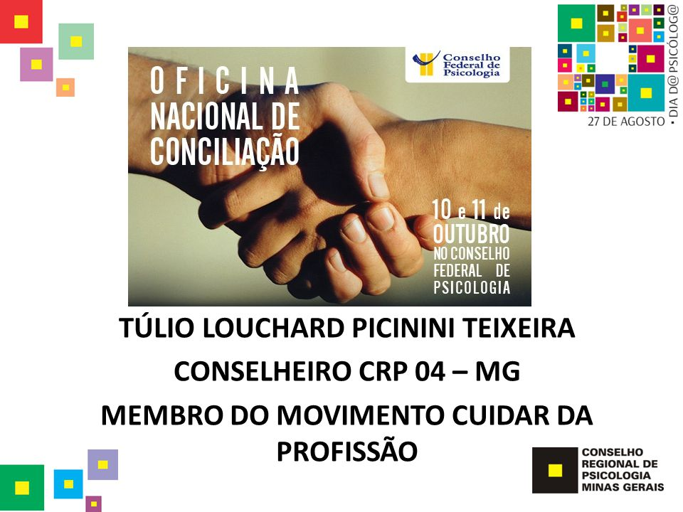 TÚLIO LOUCHARD PICININI TEIXEIRA CONSELHEIRO CRP 04 – MG
