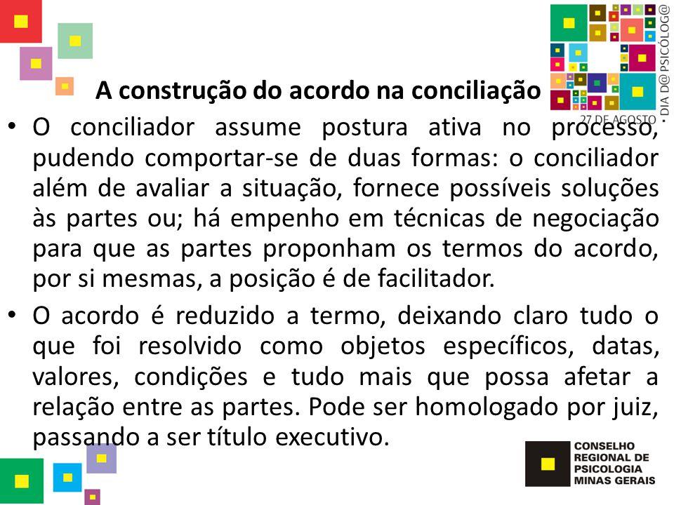 A construção do acordo na conciliação