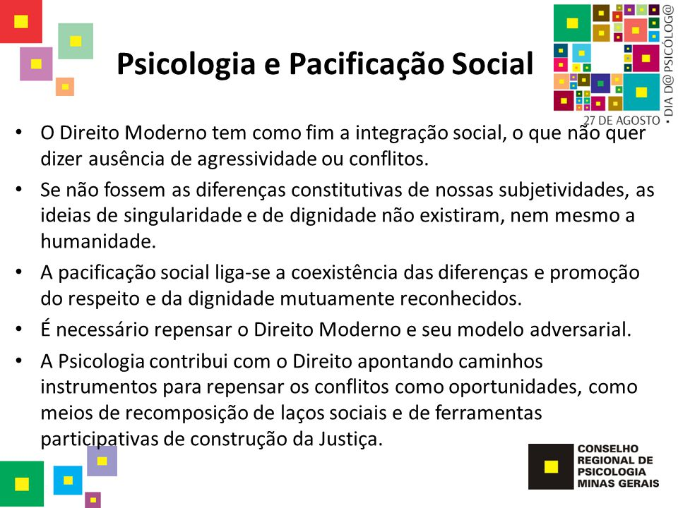 Psicologia e Pacificação Social