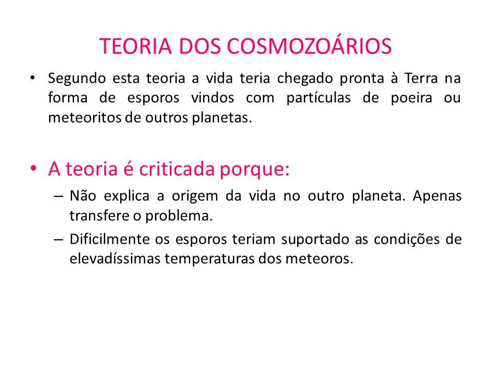TEORIA DOS COSMOZOÁRIOS