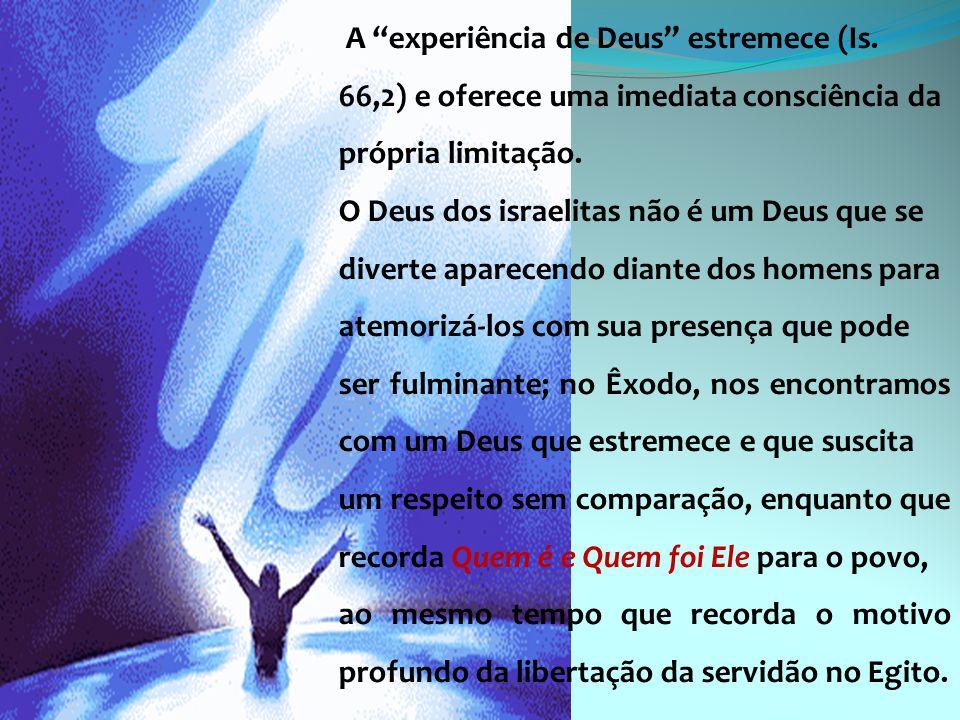 A experiência de Deus estremece (Is