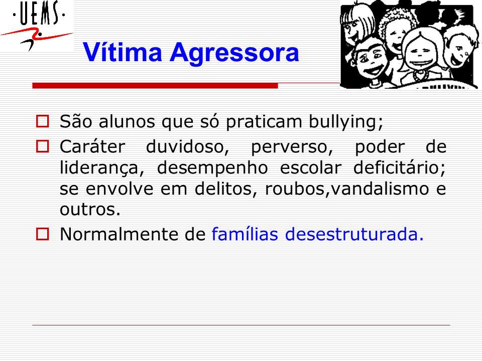 Vítima Agressora São alunos que só praticam bullying;