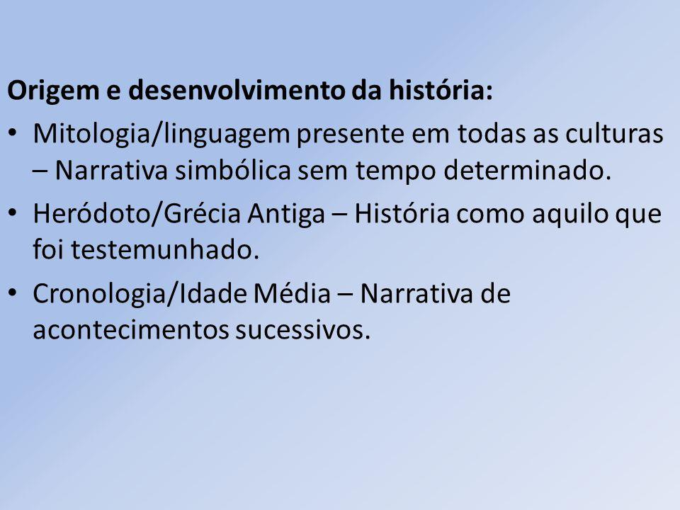 Origem e desenvolvimento da história: