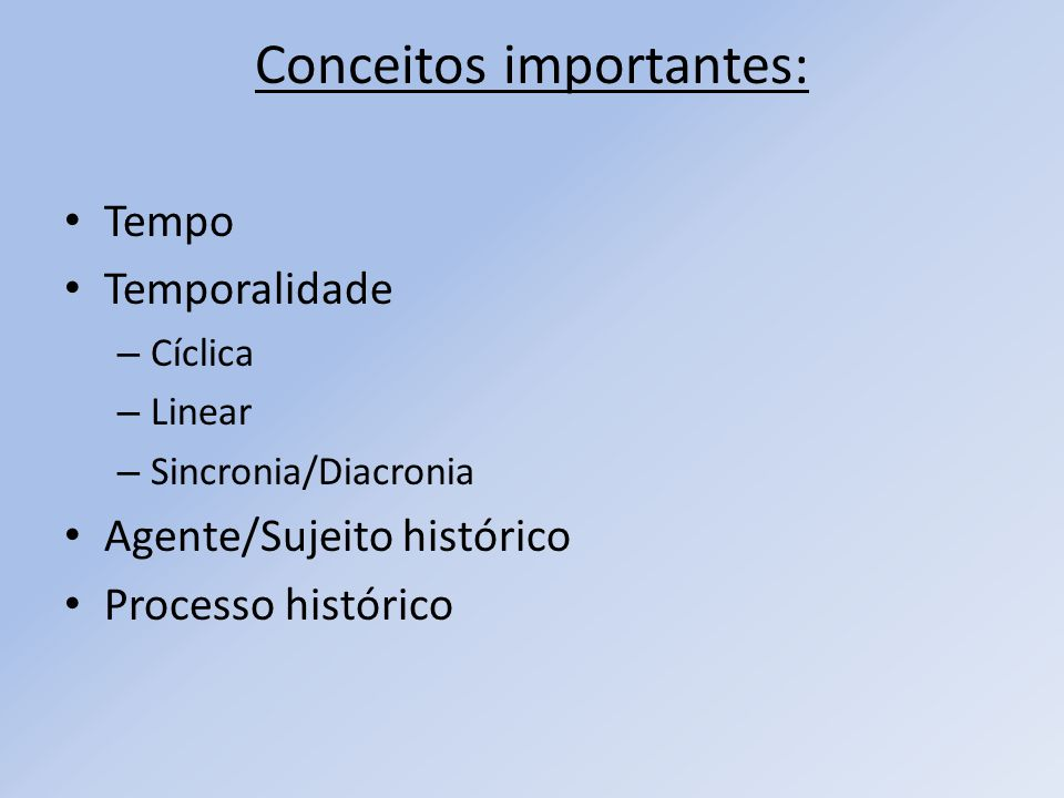 Conceitos importantes: