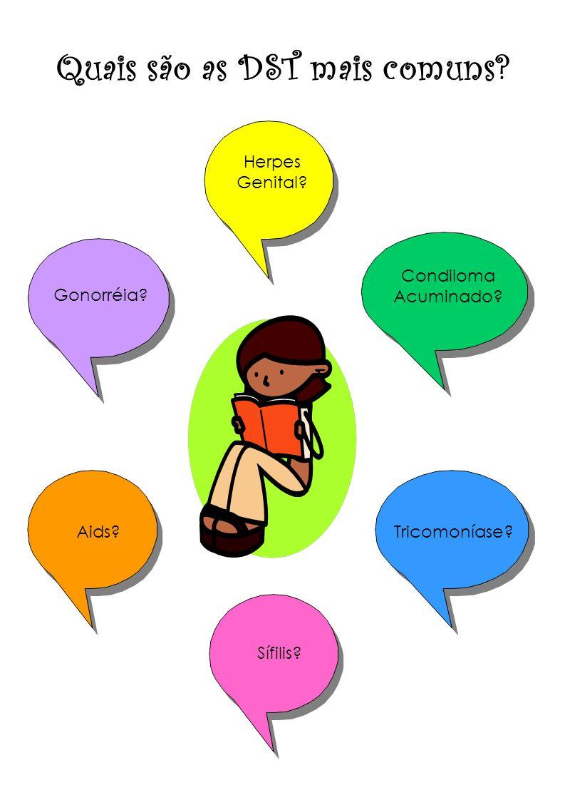 Quais são as DST mais comuns