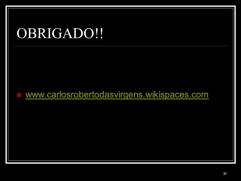OBRIGADO!! www.carlosrobertodasvirgens.wikispaces.com